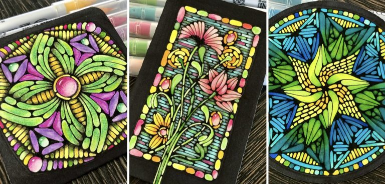 Stained glass technique - examples