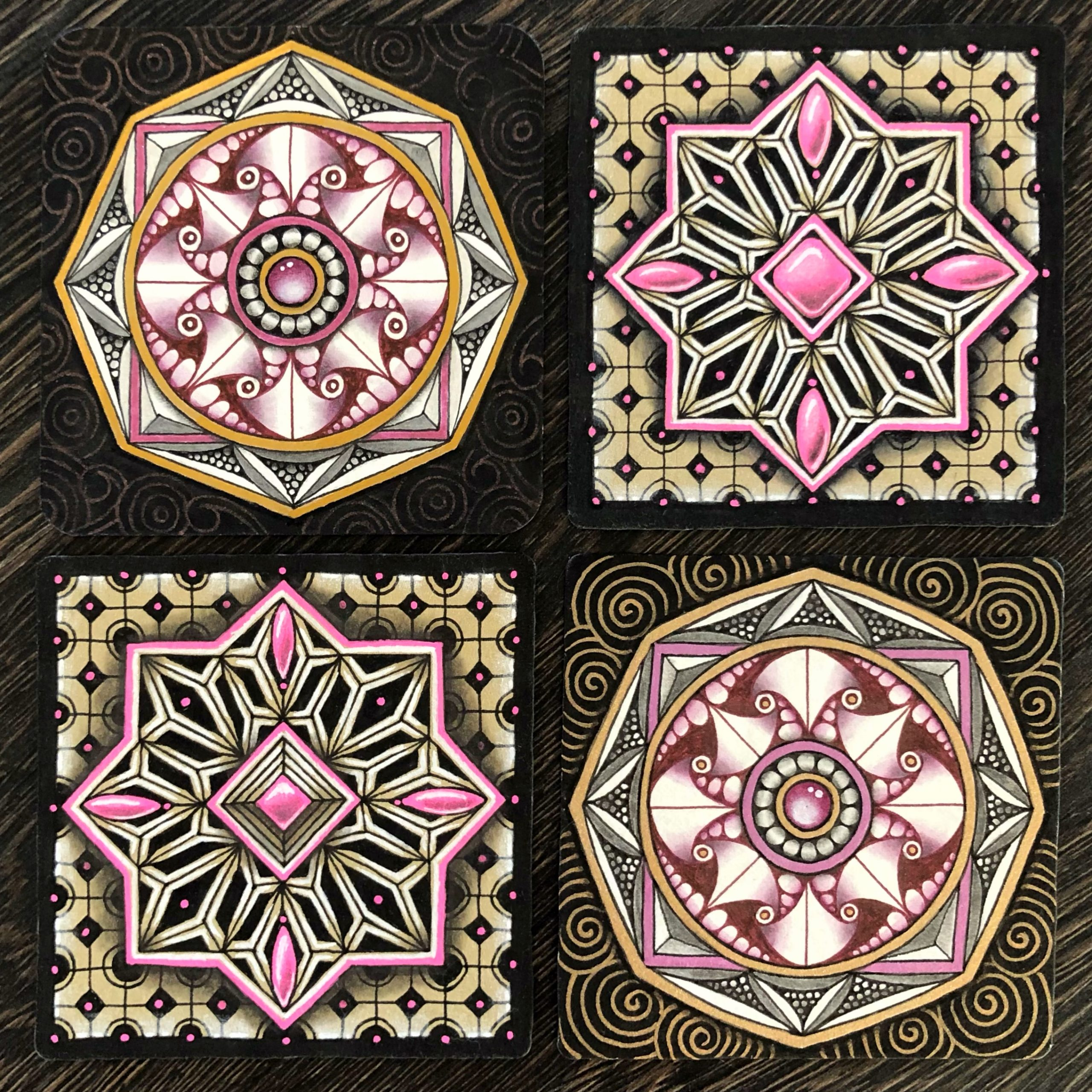 Zentangle Reticula and Fragments Mandalas