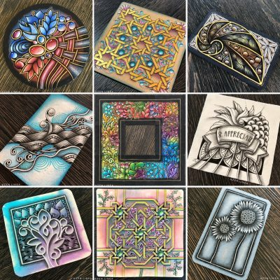 Monthly Zentangle Drawings