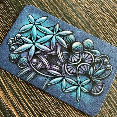 Zentangle Drawing Zen Linea